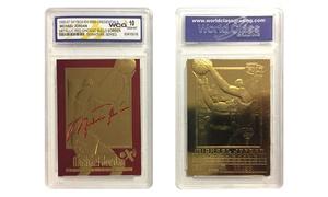 1996-97 Michael Jordan Red Skybox EX-2000 Credentials 23KT Gold Card Gem Mint 10