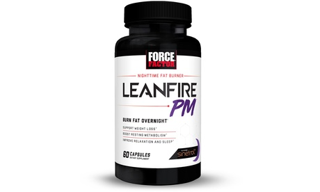 Force Factor LeanFire PM, Night Time Fat Burner and Appetite Suppressant