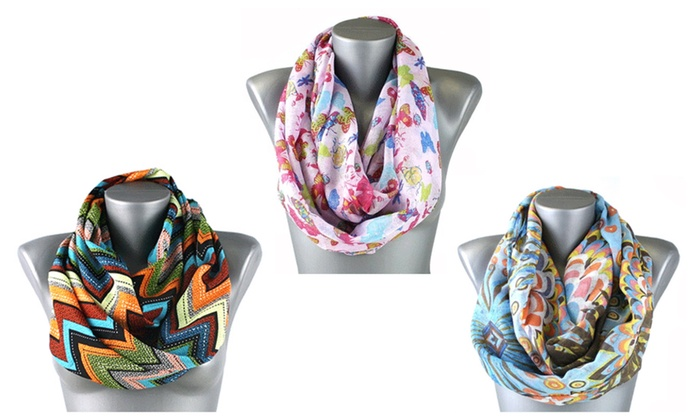 Colorful Light Weight Infinity Scarf