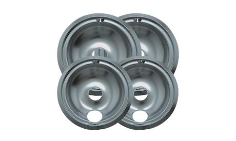 Range Kleen 119204XN Style B 4-Pack Heavy Duty Chrome Drip Bowls photo