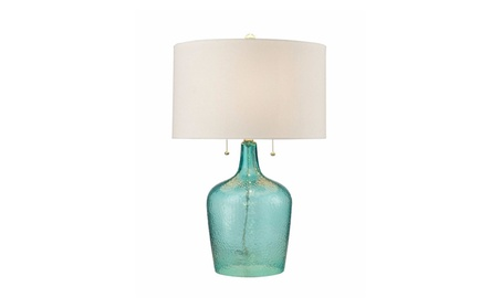 Hatteras Hammered Glass Table Lamp in Seabreeze 029d25ef-0786-487c-b4ef-5a44497f5b14