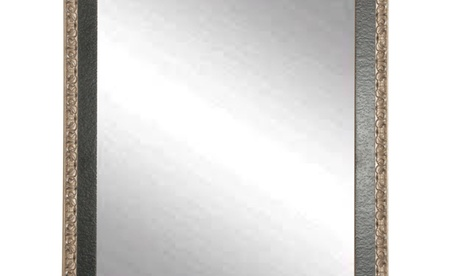 BrandtWorks Noble Black and Pewter Floor Mirror 282b00ce-7089-4a1d-af9a-1f328afd0ac0