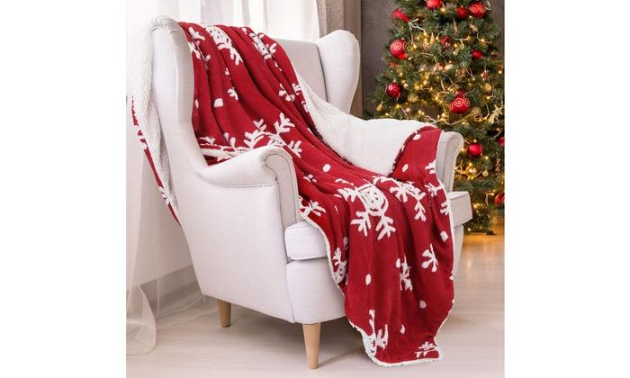 Christmas Blanket Christmas Snowflake Blanket Home Leisure Blanket Throw Blanket