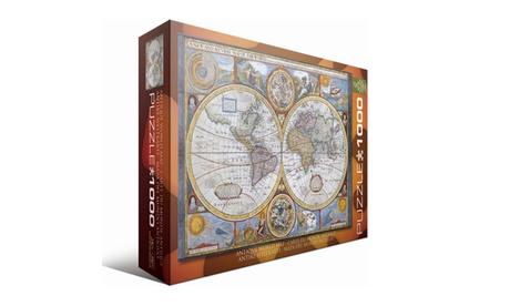 Antique World Map: 1000 Pcs 7c2e38d0-4df9-48e2-9821-6f1a093c20ca