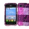 Insten Pink Exotic Hard Case For Lg Optimus Zone 2 Vs415pp L34c Fuel