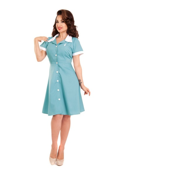 Retro Inspired Plus Size Ava House Dress by Steady Clothing USA - 4X