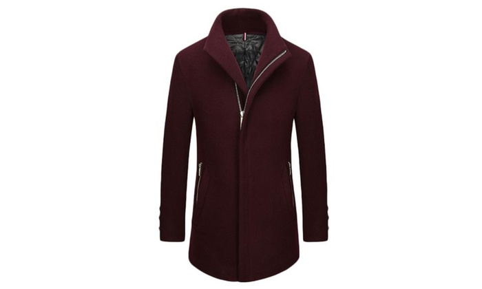 Men's Slim Fit Casual Simple Fashion Wool Coats
