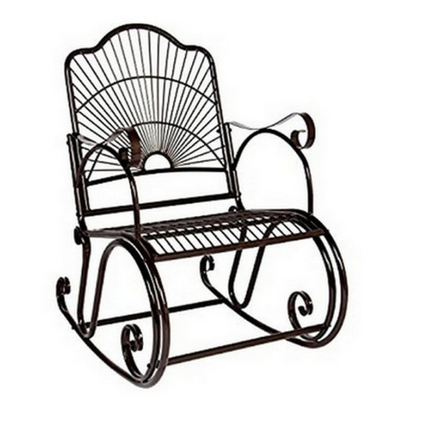 Brilliant Mainstays Jefferson Outdoor Wrought Iron Porch Rocking Chair Gamerscity Chair Design For Home Gamerscityorg