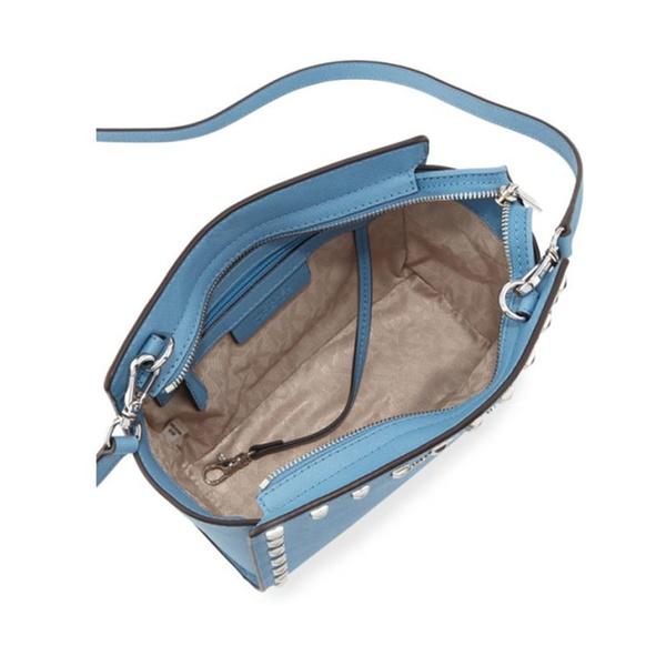 b26abf566302 Michael Kors Selma Stud Medium Leather Messenger Bag - Pale Blue ...