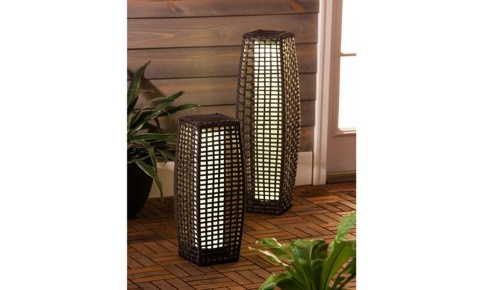 Rattan Solar Floor Lamps Groupon
