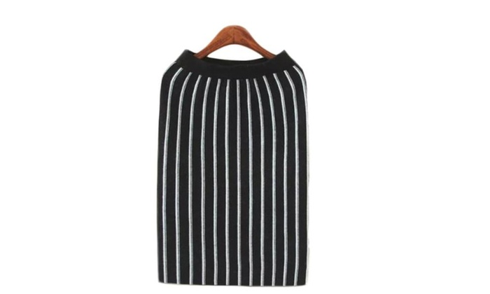 Women's Tube Stylish Vertical Stripes Casual Printed Skirt