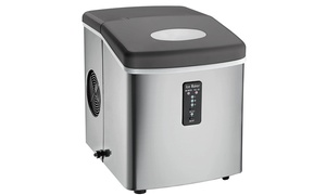 Igloo  Counter Top Ice Maker Over Sized Bucket Stainless Steel Refurbished