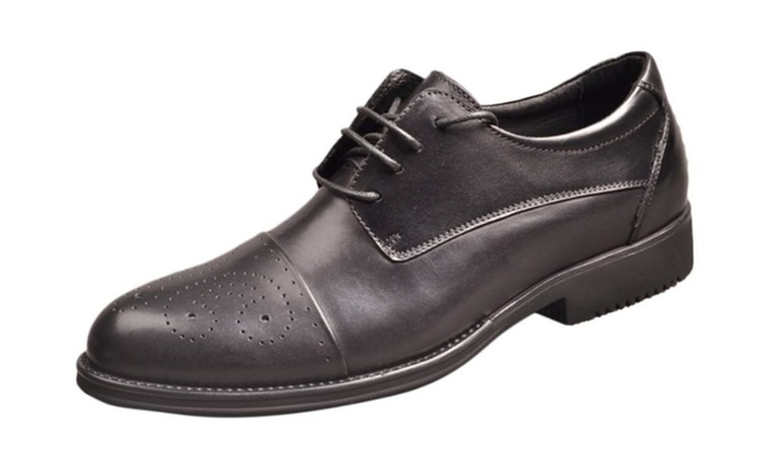 Men's Round Toe Leather  Solid Dress Shoes