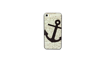 Navy Anchor iPhone 5 Case