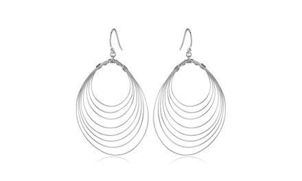 Handmade 925 Sterling Silver Spinning Wire Drop Earrings By Peermont Jewelry