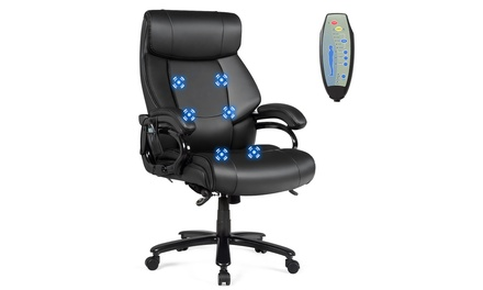 400lb Massage Office Chair Executive PU Leather Computer Desk Chair