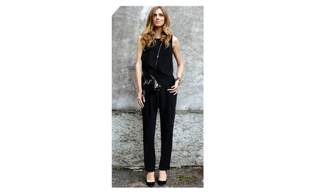 Womens's Sleeveless Vest Siamese Trouser Jumpsuit - KMWJ019