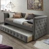 Alena Tufted Daybed with Trundle Bed (Mattress Not Included)