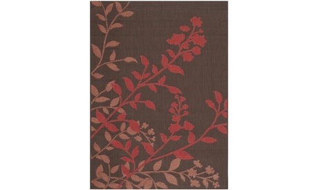 Safavieh Indoor/Outdoor Courtyard 7019 Area Rug, Chocolate/Red 856b1c96-46ed-483d-856d-dce14728b848