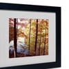 Kurt Shaffer 'A Secret Pond' Matted Black Framed Art