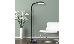 LED Natural Full Spectrum Sunlight Therapy Floor Lamp with Dimmer by Lavish Home