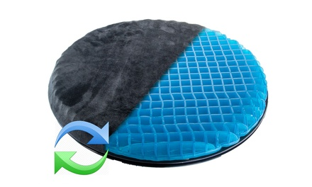 360 Swivel Rotating Car Seat Cushion Orthopedic Honeycomb Gel Easy In Out TV