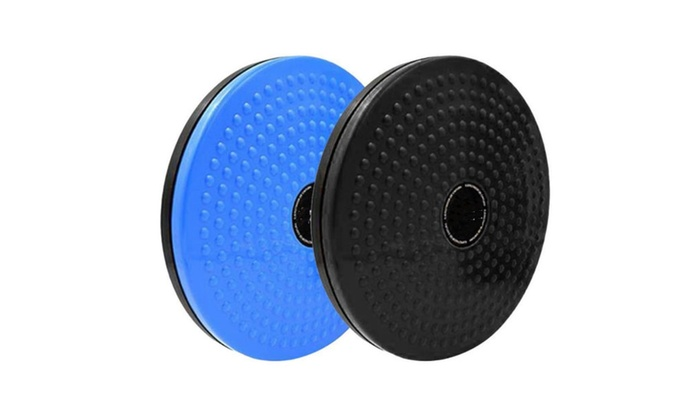 Disc Yoga Plastic Blue For Training Fitness Exercise 360 Rotation