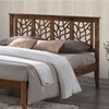 Trina Tree-Branch-Inspired Platform Bed with Walnut Finish