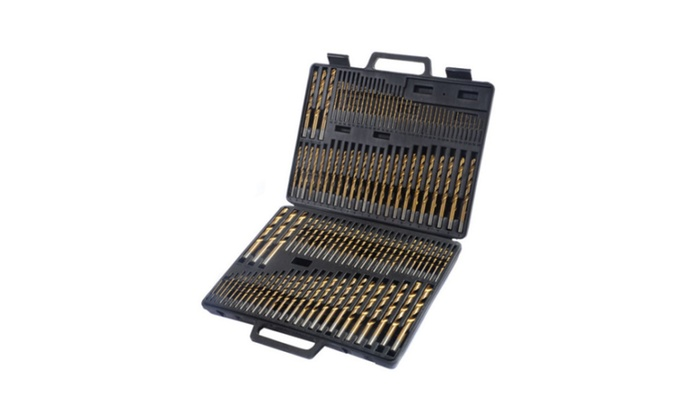 New High Speed Steel Titanium Drill Bit Set Metal w/ Index Carry Case - 115 Pcs