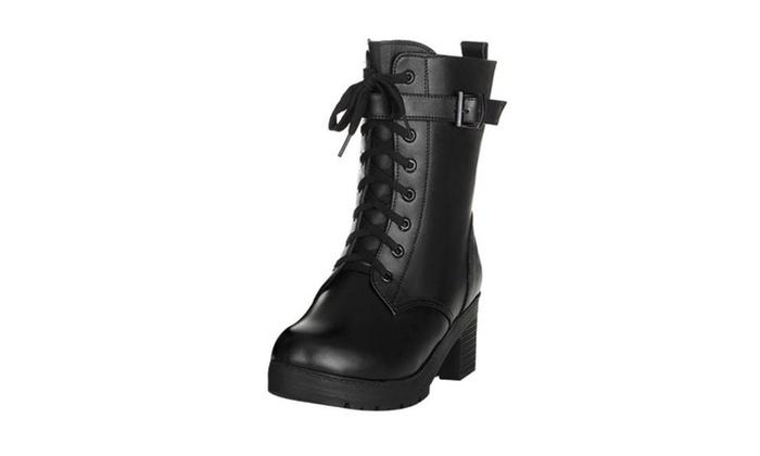 Women's Ladies  Zip Fashion Insulation Snow Boots