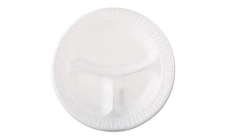 "Drc 10CPWQR Plastic Dinnerware, 10 1/4"" dia, White, 125/Pack"
