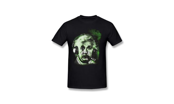 Men's Albert Einstein Smoke T-Shirt T Shirt Black