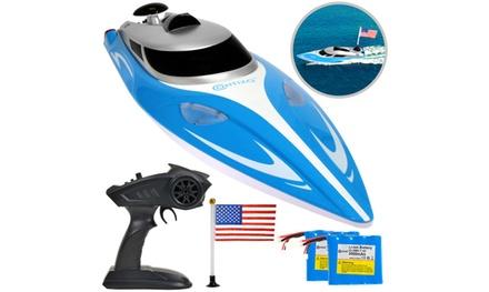 Contixo T2 Plus RC Boat, Remote Control Racing Sport Speedboat