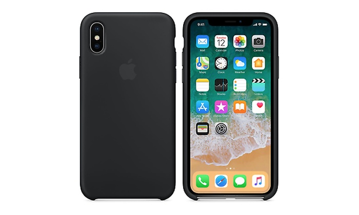 finest selection 2949f 87dcf Apple iPhone X / XS silicone case - Black or White