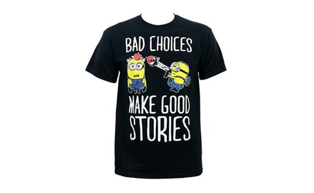 Oukai Despicable Me Minions Men's Bad Choices T-Shirt 52adf448-e77b-4511-956a-d24385fa8535