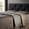 Dalini Faux Leather Headboard with Faux Crystal Buttons