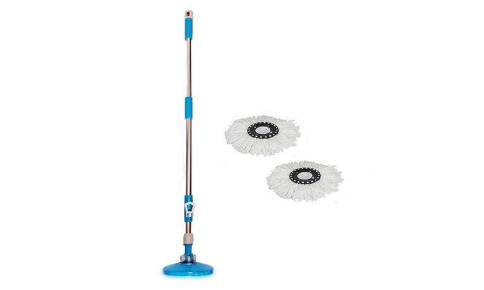 spin mop pole handle replacement for floor mop w2x microfibe mop head