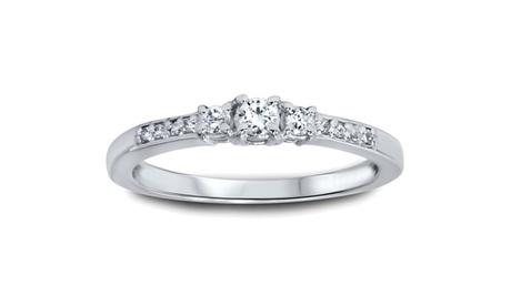 1/4 CT Three Stone Round Diamond Engagement Ring 14K White Gold a53fda8c-7676-465b-a9f8-65e0e9e47109