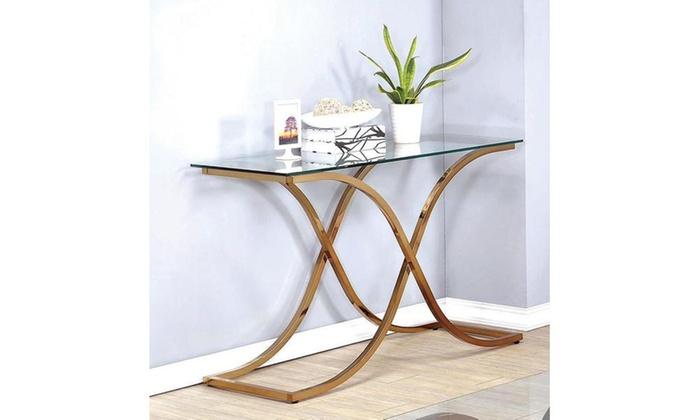 Furniture Of America Omega Gl Sofa Table