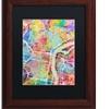 Michael Tompsett 'Philadelphia Street Map' Matted Framed Art