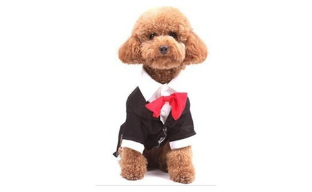 Formal Tuxedo Dog Costume Pet Suit with Tie 796bed62-84cf-4868-b3db-e9f7e2efe27d