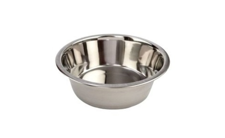 Standard Pet Dog Puppy Cat Food or Drink Water Bowl STAINLESS STEEL - Stainless Steel af403fd8-7957-45ae-b53d-54f5e034a919