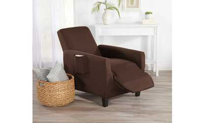 Shop Groupon Great Bay Home Form Fitting Stretch Recliner Slipcover