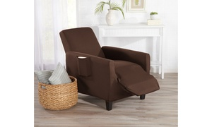 Great Bay Home Form-Fitting Stretch Recliner Slipcover