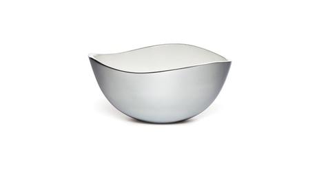 Savora 10 Inch White Alloy Serving Bowl