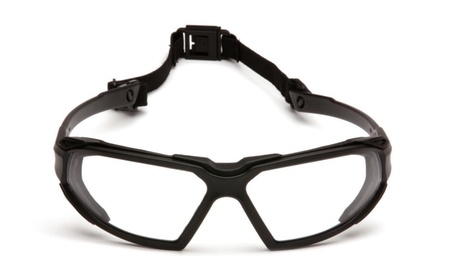 Pyramex Highlander Black Clear Anti Fog Safety Glasses Goggles 7243f628-32cc-4e88-a3c7-d1399282c8dd
