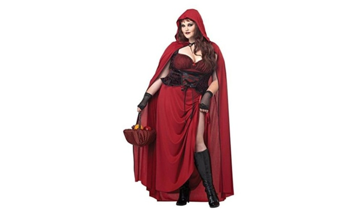 Dark Red Riding Hood Plus Size Adult Halloween Costume - One Color / 1X-Large (16-18)