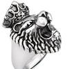 Men's Stainless Steel King Lion Cast Ring