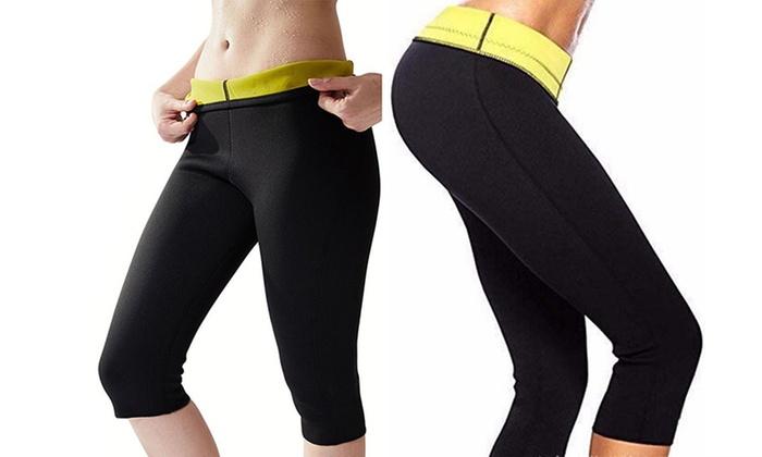 d7bc9532da0d7 Hot Sweat Sauna Shaper Thigh Slimmer Pants Workout Fat Burn Shapewear ...