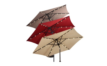 9FT Patio Solar Umbrella LED Patio Market Steel Tilt W/ Crank Outdoor af61dc46-a74c-42cf-a2ee-c996e2f8aaa6